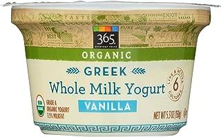 365 Everyday Value, Organic Greek Whole Milk Yogurt, Vanilla, 5.3 oz
