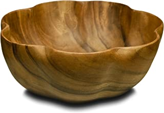 Pacific Merchants Acaciaware 10- by 4-Inch Acacia Wood Round Flared Serving/Salad Bowl