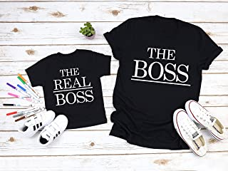 The Boss The Real Boss Daddy and Me Shirts Mommy and Me Shirt Funny Family Shirts Matching Dad and Baby Shirts Funny Dad Shirts