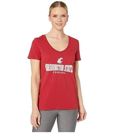 Champion College Washington State Cougars University V-Neck Tee (Cardinal 2) Women