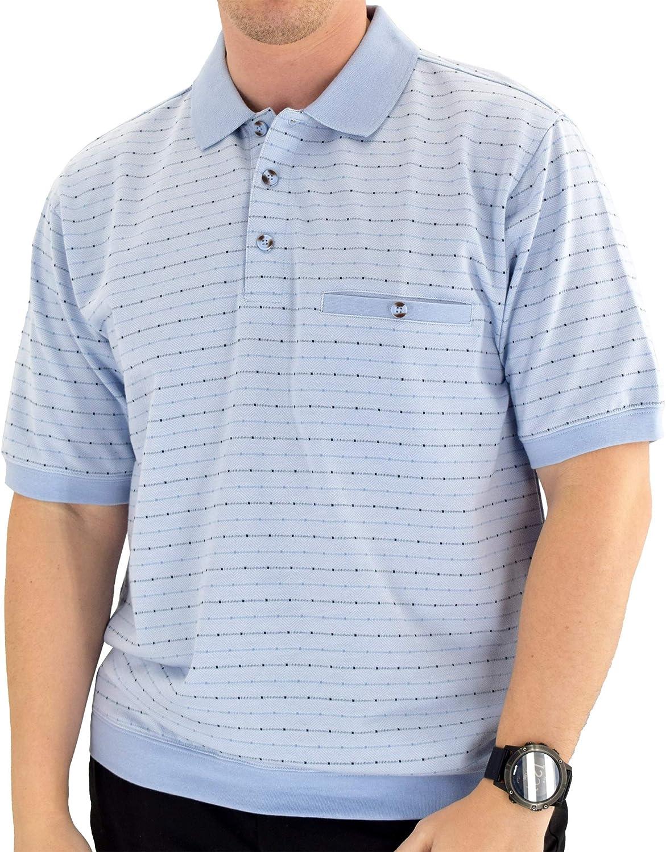 Classics by Palmland Short Sleeve Polo Shirt 6191-411 Big and Tall - Light Blue