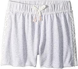 French Terry Shorts w/ Lace (Big Kids)