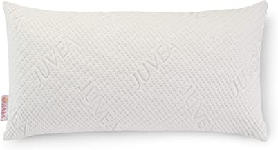 JUVEA 100% Natural Premium American Talalay Latex Supportive Bed Pillow for Sleeping with Ultra-Soft, Luxurious Tencel Lyocell Fiber Cover, King High Profile – Made in USA