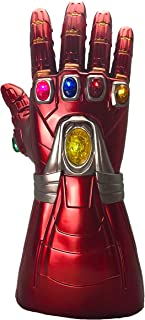 XXF Iron Man Infinity Gauntlet,Iron Man Infinity Glove led Stone Light Up Halloween Party for Adult.