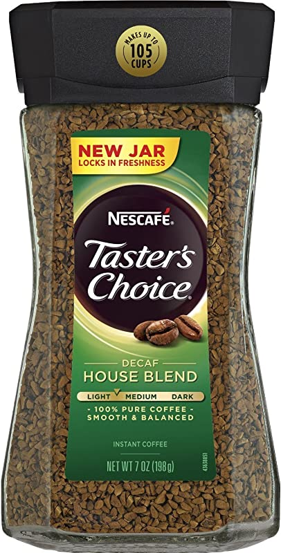 Nescafe Taster S Choice Decaf Instant Coffee House Blend New Jar Pack Of 3 X 7 Oz