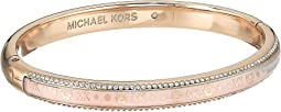 Michael Kors - Heritage In Full Bloom Pave Rimmed Bangle with Floral Motif