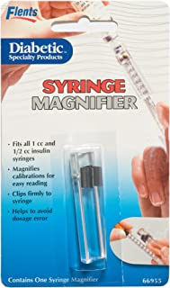Flents Syring Magnifier - Fits All 1cc and 1/2cc Insulin Syringes