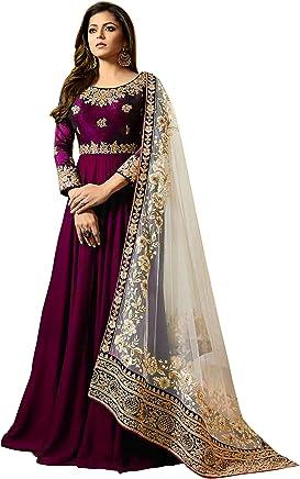 816b5cc309 UddanCreation Designer Salwar Kameez Suit Indian Pakistani Bollywood Dress  Anarkali Kameez 108 Purple