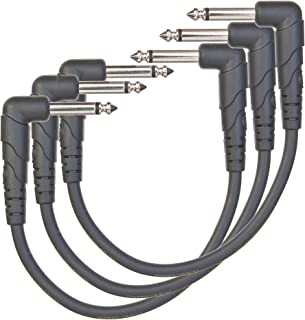 Planet Waves PW-CGTP-305 Classic Series Instrument Cable with Right Angle Plug, 0.5 feet (3-pack)