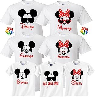 Mickey & Minnie Custom Name Tshirts Funny Cute Custom Matching Shirts