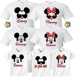 Arts & Designs Mickey & Minnie Custom Name Tshirts Funny Cute Custom Matching Shirts