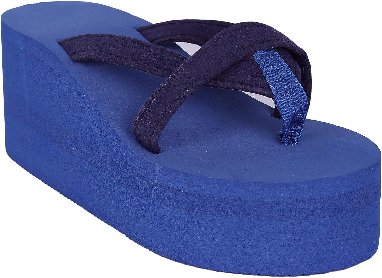 Syktkmx Womens Thong Wedge Platform Flip Flops Mid Heel Cross Strap Summer Beach Sandals