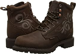 "Justin Katerina 6"" Waterproof Steel Toe"