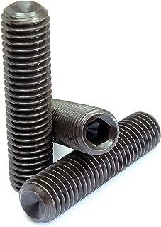 Set Screws Flat Point - Grub-Blind-Allen-Headless Screw Alloy Steel #3-48 x 1//8 Thermal Black Oxide Quantity: 25