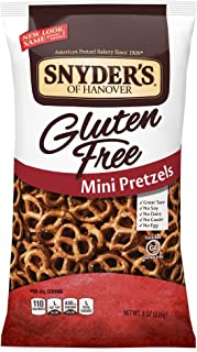 Snyder's of Hanover Gluten Free Mini Pretzels, 8 Ounce (Pack of 12)