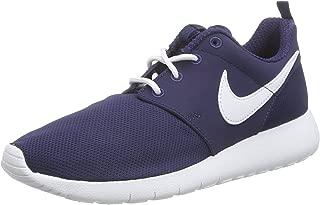Nike Boy's Roshe Run Sneaker (GS) Midnight Navy/White 4.5Y