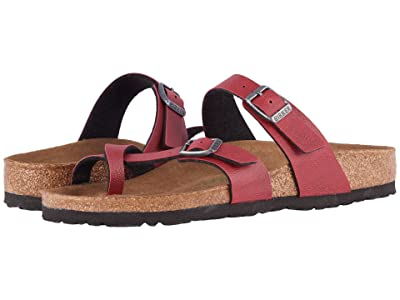 Birkenstock Mayari Vegan (Bordeaux Pull Up Birko-Flortm) Women