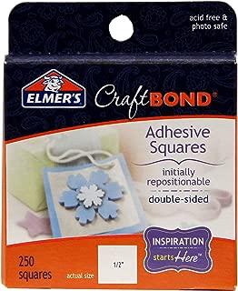 Elmer's CraftBond Adhesive Squares, Repositionable, 250 Squares
