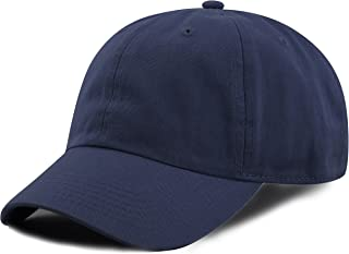 a304dd69f3346 THE HAT DEPOT Kids Washed Low Profile Cotton and Denim Plain Baseball Cap  Hat