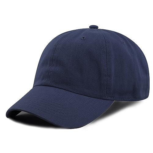 35891155d84498 THE HAT DEPOT Kids Washed Low Profile Cotton and Denim Plain Baseball Cap  Hat