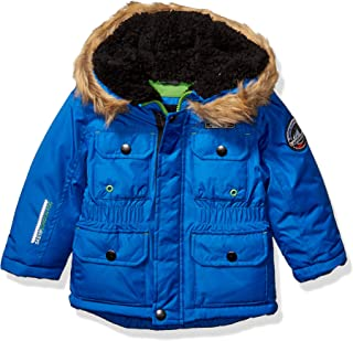 London Fog Boys' Warm Winter Coat Parka with Cozy Trimmed Hood