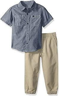 Calvin Klein Baby Boys 2 Pieces Shirt Pant Set-Short Sleeves