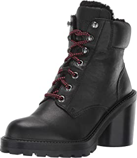 Marc Jacobs CROSBY HIKING BOOT WITH FAUX SHEARLING LINING womens Ankle Boot