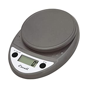 Escali P115-M-NSF Primo Metallic 11 lb Portable Digital Scale