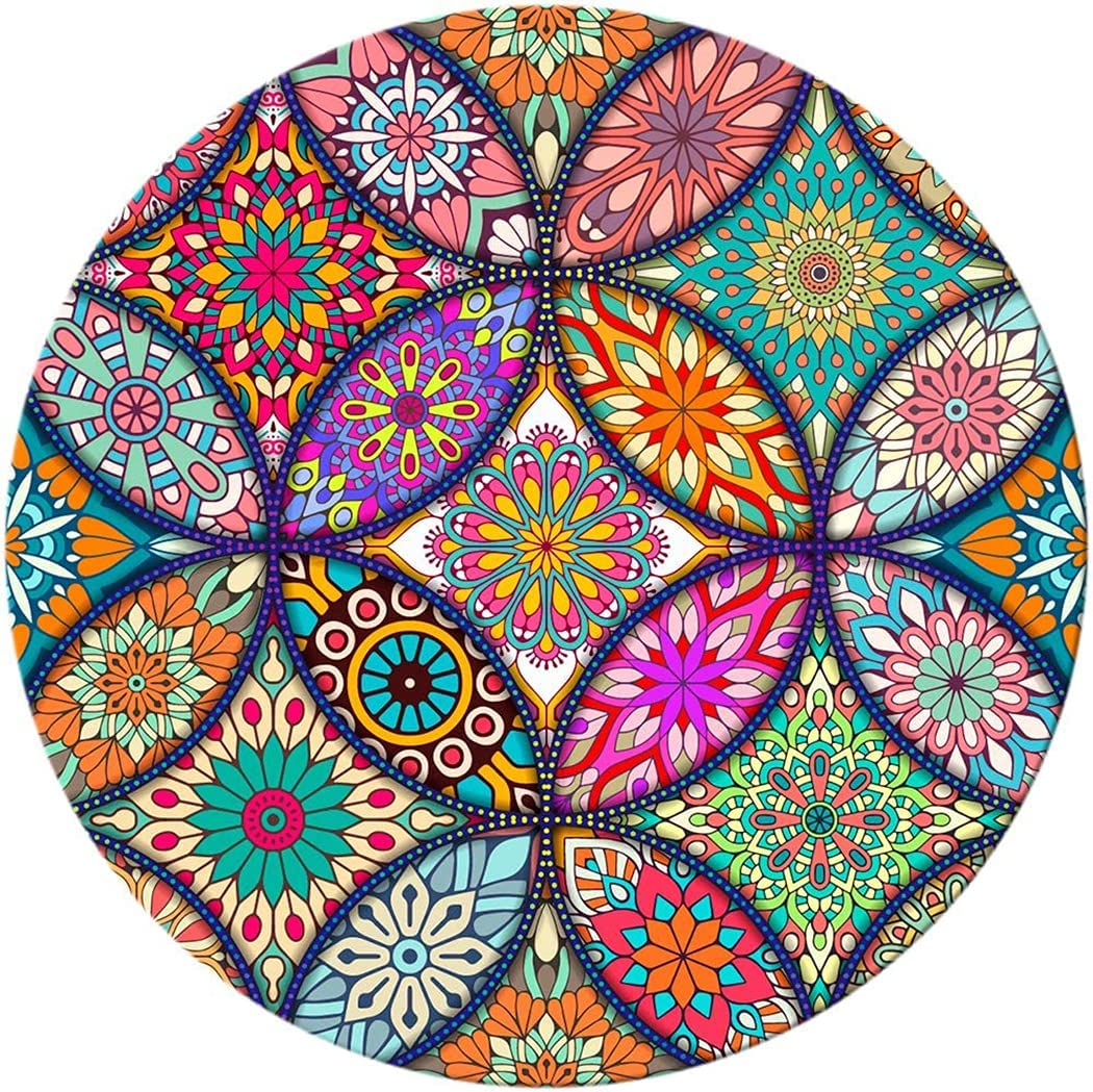 BOSOBO Mouse Pad Max 59% OFF Max 47% OFF Round Mandala Cute with D Mat