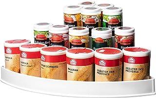 UPP Étagère Pots à épices à 3 étages pour Angle de Cuisine I Etagere à epices ou Support de Rangement dans la Salle de Bai...