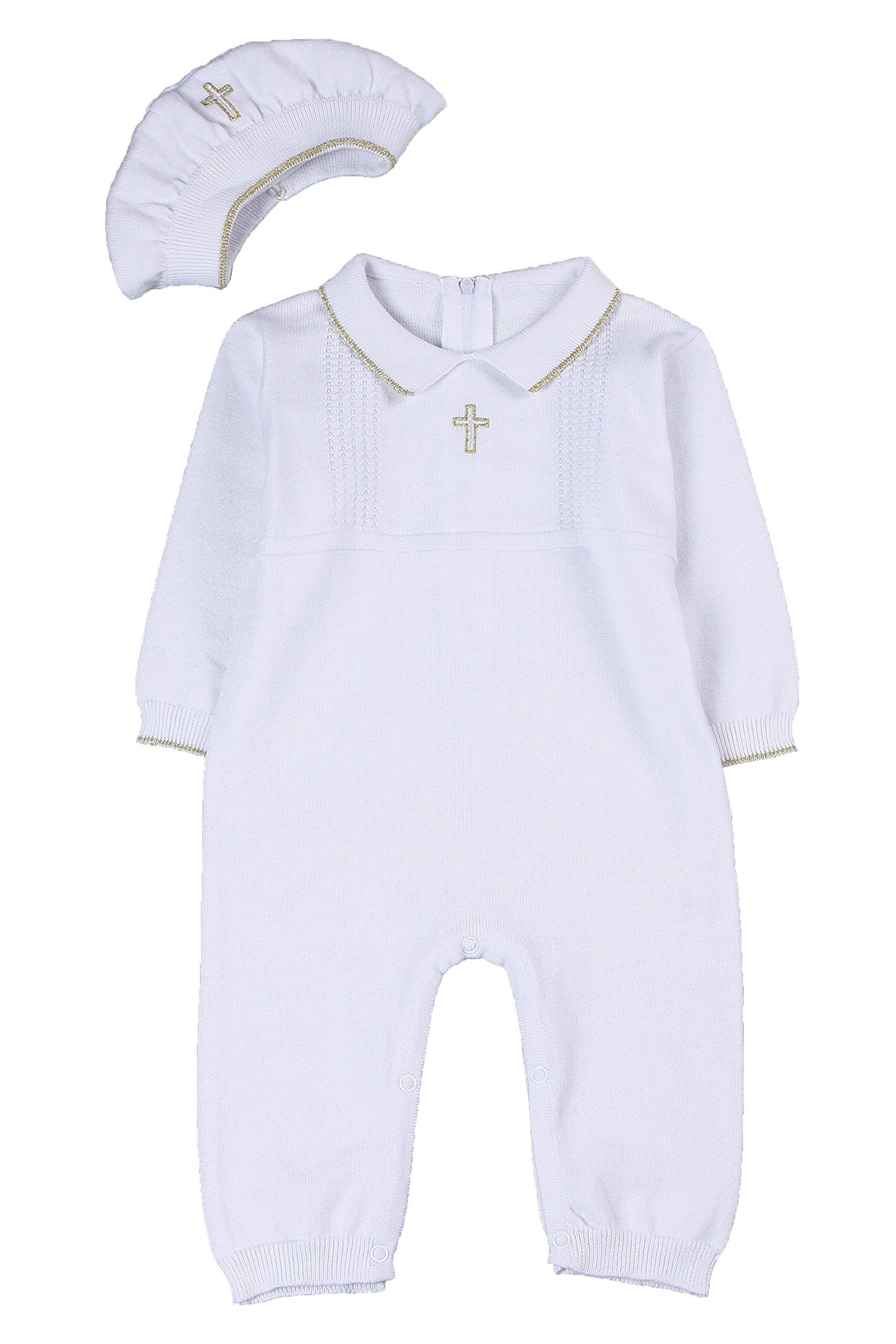 Classykidzshop White Boy Baptism Outfit B2