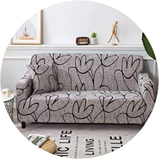 better-caress Sofa Cover Cotton Elastic slipcovers Big Elasticity Couch Cover loveseat Corner sectional Sofa Covers for Living Room funda Sofa,Cr 18,3-Seater 190-230cm