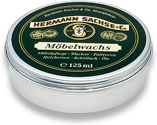 Hermann Sachse Möbelwachs farblos - 125ml - Natürlicher Antikwachs - Aus Leinölfirnis, Bienenwachs, Carnaubawachs - Holzwachs - Holzpaste - Made in Germany