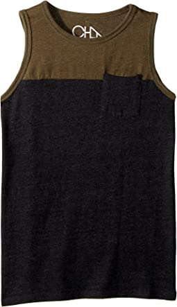 Super Soft Blocked Muscle Tank Top (Little Kids/Big Kids)
