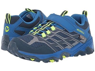 Merrell Kids Moab FST Low A/C Waterproof (Little Kid/Big Kid) (Navy/Cobalt) Boys Shoes