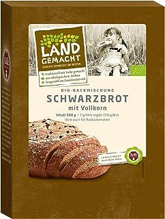 500g Bio Vollkorn-Schwarzbrot - Brotbackmischung - ergibt ca. 750g Brot - Rolle Mühle -