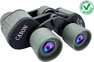 CASON (DEVICE OF C) - Professional 8 X 40 HD Binoculars Folding Powerful Lens 10X Zoom Portable Binocular Telescope With Pouch Outdoor Binoculars For Long Distance,bird watching,wildlife For Adults (Green)