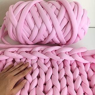 Cotton yarn for arm knitting - Vegan braid yarn to make hand knit blanket - Giant Jumbo Yarn - Super chunky cotton yarn - machine washable