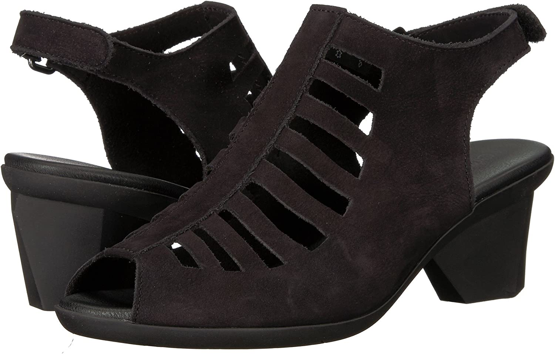 Arche Women's 'Enexor' Sandal with Geometric Heel black
