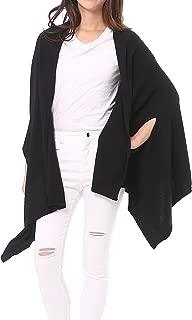 Women's Wool Blended Versatile Multi Style Long Knit Poncho Wrap