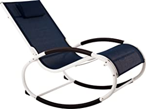 Vivere WAVEROCK1-NW Aluminum Rocking Chair, Rocker, Navy