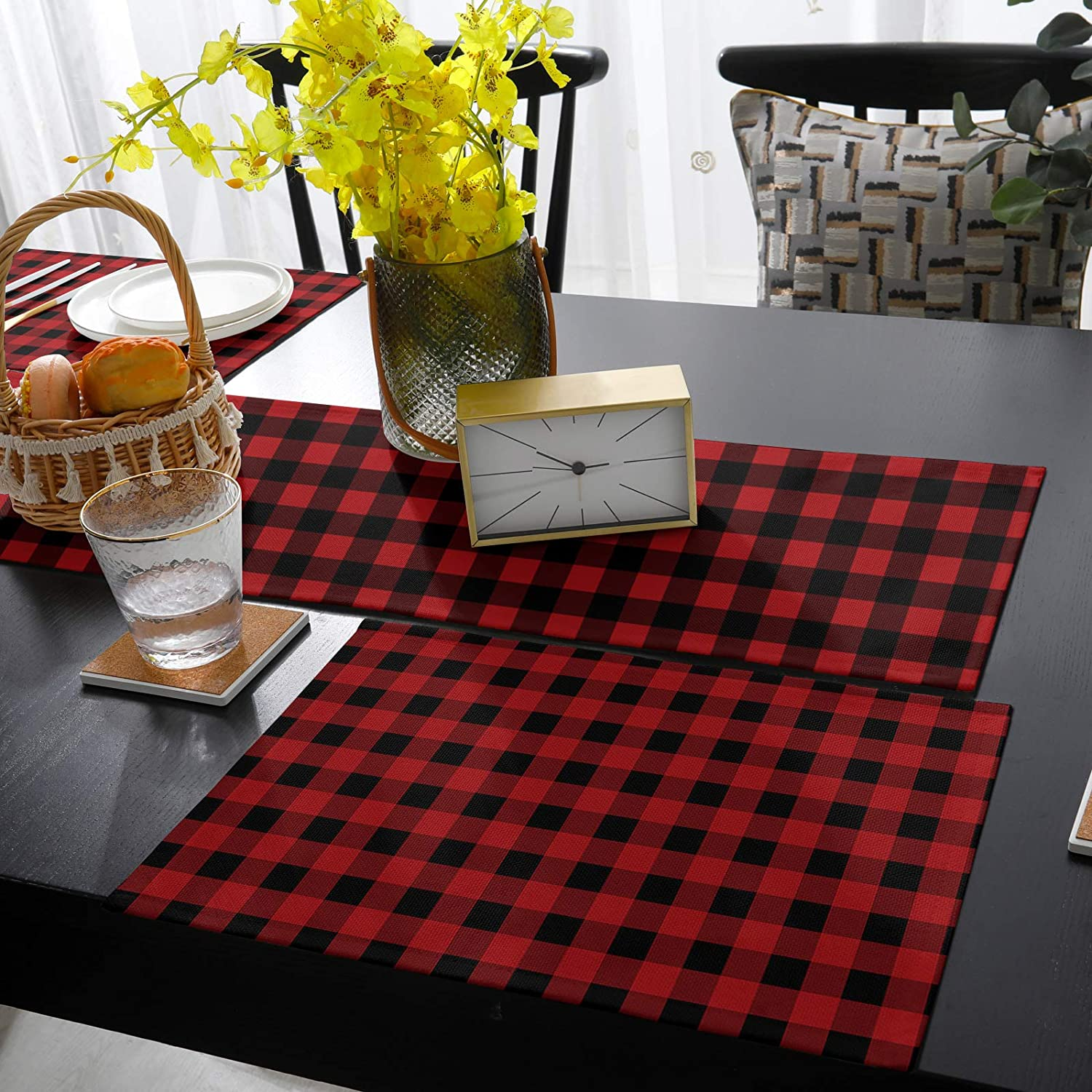 Fangship Max 52% OFF Placemats with online shop Table Runner Set Dining for Nordic