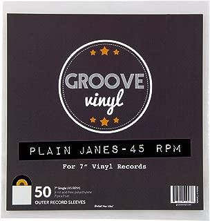 50 Vinyl Record Sleeves - 7.375