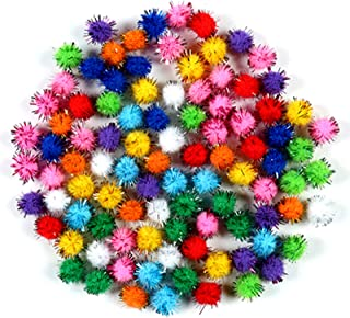 nuluxi Pompons à Paillettes pour Loisirs Créatifs Pom Pom DIY Décoratifs Multicolores Rondes Pompons Mini Pompons Balles p...