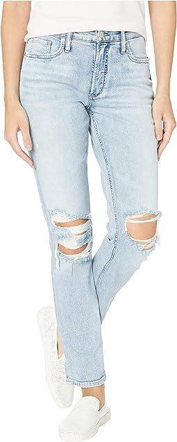 Not Your Boyfriend's Jeans Mid-Rise Slim Leg in Indigo L27336SOP115