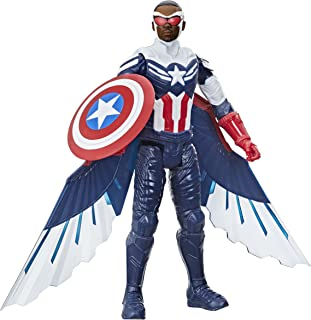 Avengers Marvel Studios Titan Hero Series Captain America Action Figure, 12-Inch Toy, Includes Wings, for Kids Ages 4 and Up