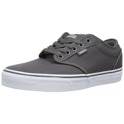 d2dadc892 Vans Men's Atwood Canvas Grey Low-Top Sneakers