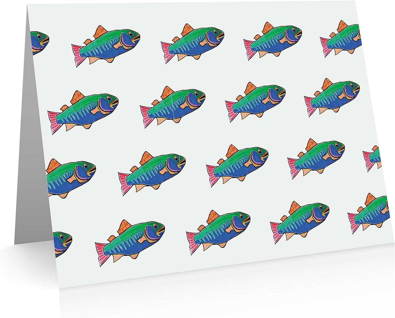 Little Little Little Notes by Comptime Fisch-Grußkarten (24 Foldover Karten und Umschläge) B0172AC37S | Stil  834c1a