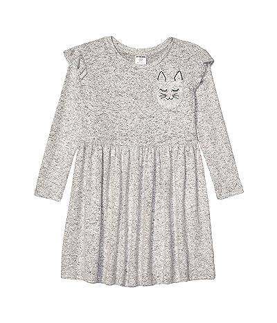 Spotted Zebra Long Sleeve Cozy Knit Dress (Toddler)