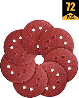 80//100//180//240//320//400//600//800//1000//1200//2000//3000 Assorted Grits-Pack of 120 Miady 120 pcs 2-Inch Sanding Discs with 1 pc 2 Inch Drill Shank Backing Pad